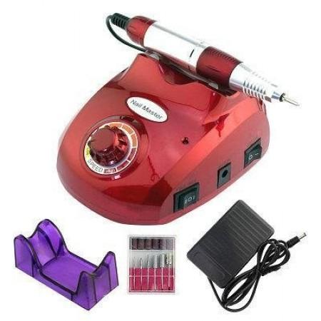 Аппарат фрезер ручка для маникюра и педикюра профессиональный Nail Master ZS-603 35W 35 000 Об/мин Красный