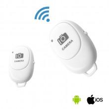Bluetooth пульт для селфи для телефона Android и IOS в коробке Bluetooth Remote Белый