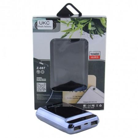 Power Bank Внешний Аккумулятор для телефона смартфона с двумя USB UKC Z-087 10400 mAh Blue