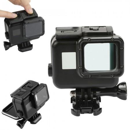 Аквабокс (Водонепроницаемый бокс) для экшн камеры GoPro HERO 5/6/7 Черный