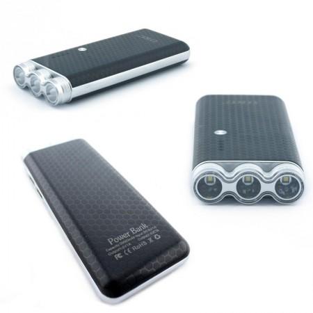 Power Bank Внешний Аккумулятор для телефона смартфона с фонариком UKC KC-05 6000mAh Black
