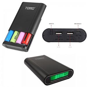Power Bank Внешний Аккумулятор (корпус) для телефона с LCD дисплеем TOMO M4 с зарядкой 2в1