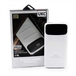 Power Bank Внешний Аккумулятор для телефона смартфона UKC Z081 800000mAh (реальная ёмкость 9600mAh) White